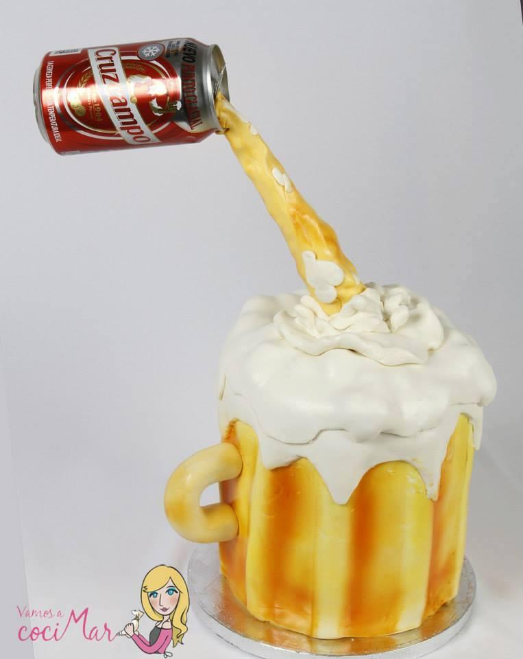 tarta fondant cerveza Cruzcampo