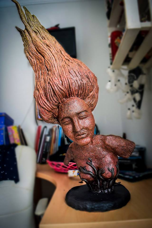 escultura chocolate