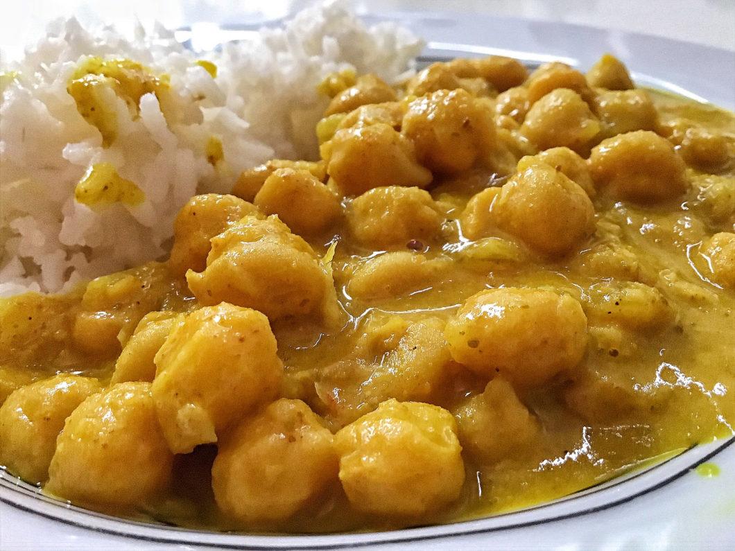 Curry-garbanzos-vegano