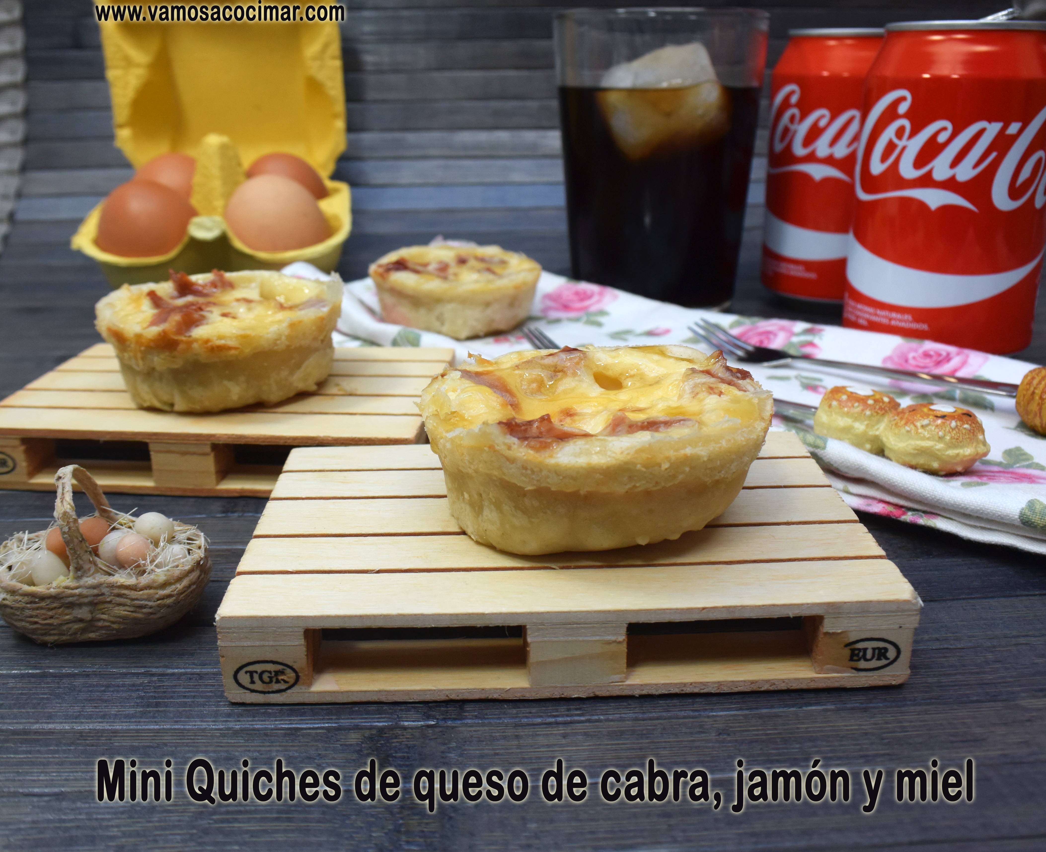 mini quiches queso