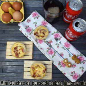 receta-mini-quiches-queso-cabra-jamon-iberico-miel