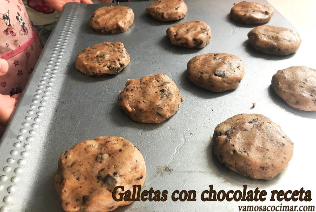 Galletas con chocolate receta Cookies