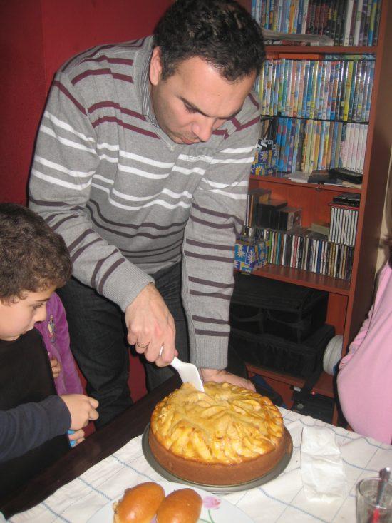 tarta bizcocho de manazana