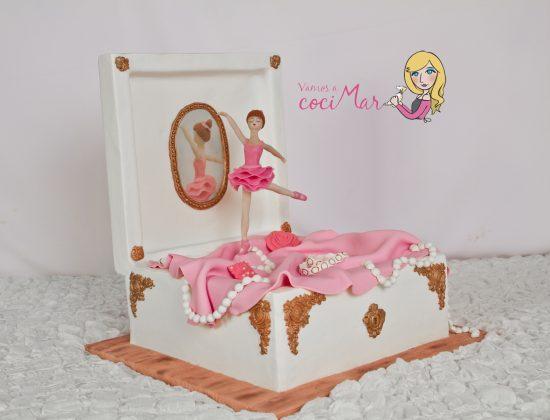 tarta-fondant-caja-musica-bailarina