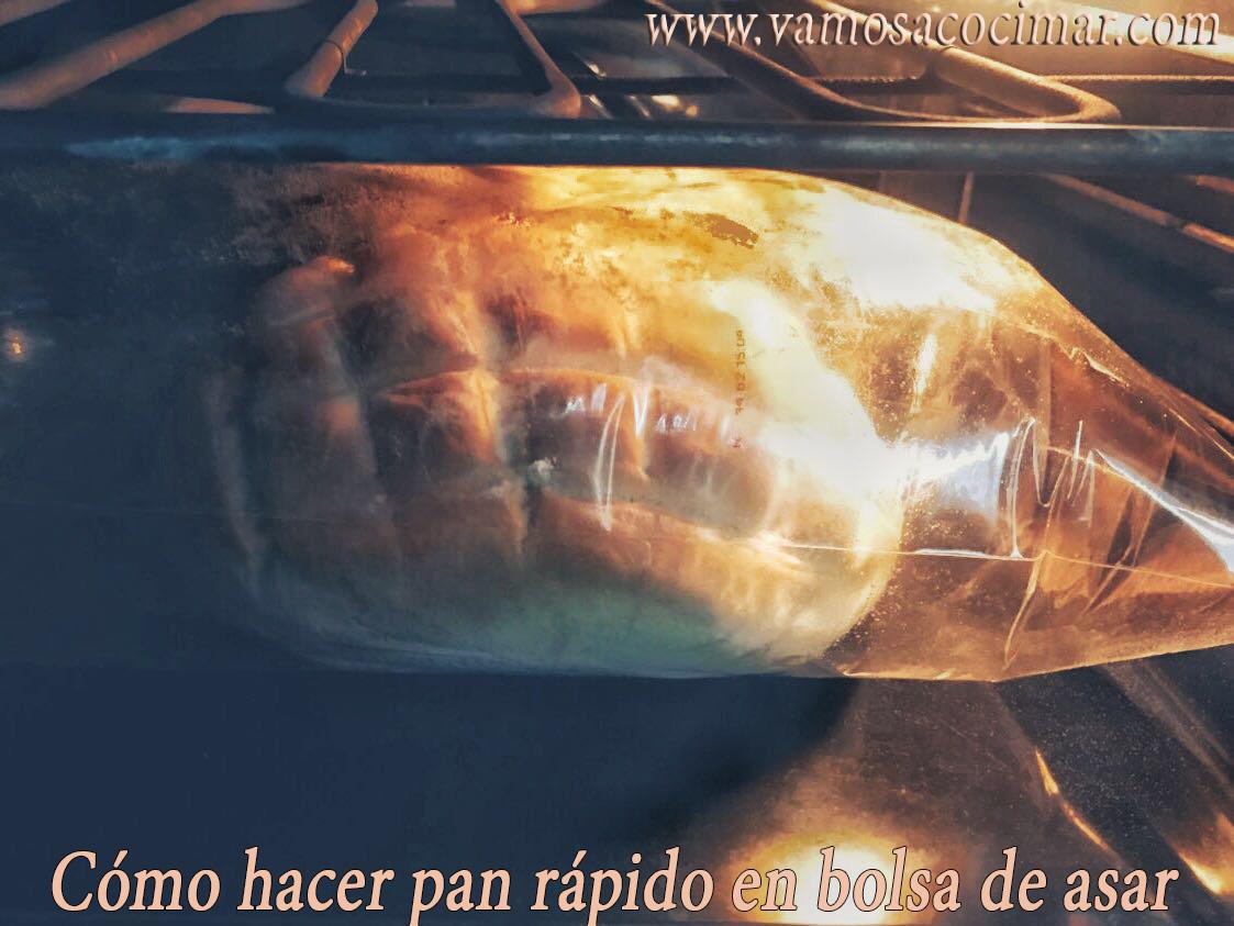 como hacer pan rapido en bolsa de asar2