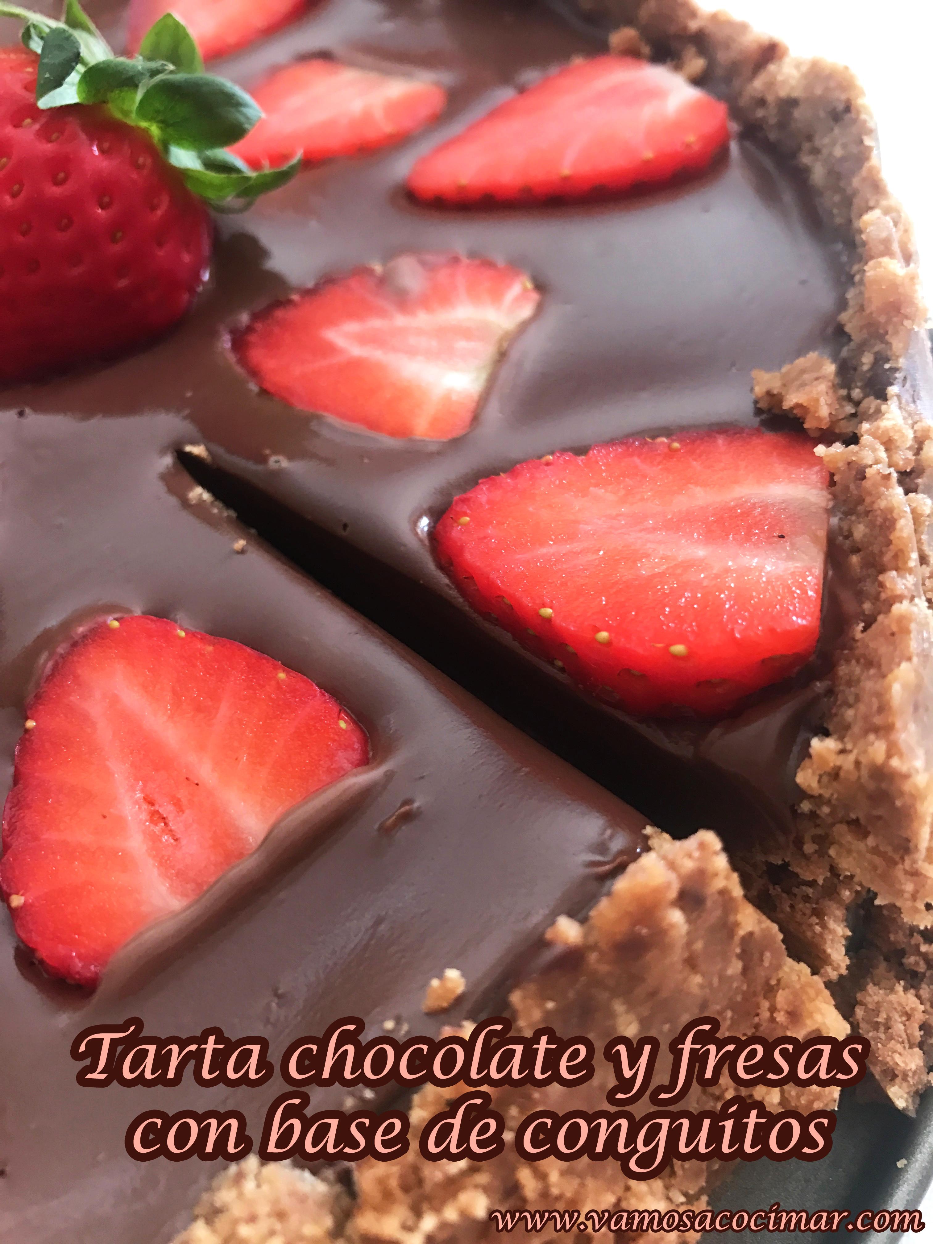 tarta chocolate y fresa